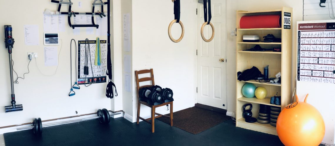 Minimalist essential garage gym